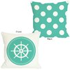 One Bella Casa Polka Dot Wheel Throw Pillow
