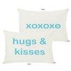 One Bella Casa Hugs and Kisses/XO Reversible Lumbar Pillow