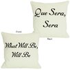 One Bella Casa Que Sera Sera/What Will Be Will Be Reversible Throw Pillow