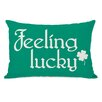One Bella Casa Feeling Lucky Shamrock Lumbar Pillow