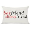 One Bella Casa Boyfriend Shmoyfriend Lumbar Throw Pillow
