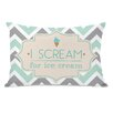One Bella Casa I Scream for Ice Cream Lumbar Pillow