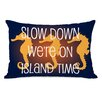 One Bella Casa Slow Down on Island Time Throw Pillow