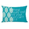One Bella Casa Nothing is Really Lost Lumbar Throw Pillow