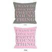 One Bella Casa Pretty Young Thing Throw Pillow