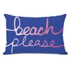 One Bella Casa Beach Please Lumbar Pillow