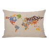One Bella Casa World Map Lumbar Pillow
