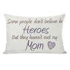 One Bella Casa Heroes Mom Lumbar Pillow