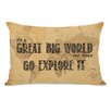 One Bella Casa Great World Map Lumbar Pillow