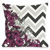 One Bella Casa Amber Chevron Floral Throw Pillow