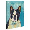One Bella Casa Doggy Decor French Bulldog 2 Graphic Art on Wrapped Canvas