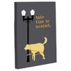 One Bella Casa Doggy Decor Unwind Dog Graphic Art on Wrapped Canvas