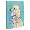 One Bella Casa Doggy Decor Poodle 2 Graphic Art on Wrapped Canvas