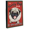 One Bella Casa Doggy Decor Portly Pug Graphic Art on Wrapped Canvas