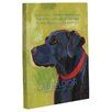 One Bella Casa Doggy Decor Labrador 1 Graphic Art on Wrapped Canvas