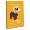 One Bella Casa Doggy Decor Fun and Games Small Graphic Art on Wrapped Canvas