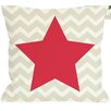 One Bella Casa Chevron Star Reversible Throw Pillow
