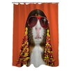 One Bella Casa Pets Rock Funk Shower Curtain