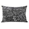 One Bella Casa Holiday Lettering Lumbar Pillow