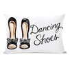 One Bella Casa Dancing Shoes Striped Bow Lumbar Pillow