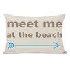 One Bella Casa Meet Me at The Beach Lumbar Pillow