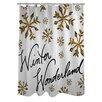 One Bella Casa Winter Wonderland Snowflakes Shower Curtain