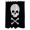 One Bella Casa Skull Crossbones Shower Curtain