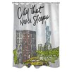 One Bella Casa City Sleeps Shower Curtain