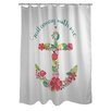 One Bella Casa Sail Away Anchor Shower Curtain
