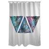 One Bella Casa Galaxy Triangles Shower Curtain