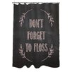 One Bella Casa Don't Forget to Floss Chalkboard Shower Curtain