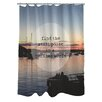 One Bella Casa Find a Still Point Harbor Photo Shower Curtain