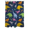 One Bella Casa Crazy Dinos Shower Curtain