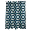 One Bella Casa Dahlia Geometric Shower Curtain