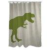 One Bella Casa T-Rex Stripe Shower Curtain