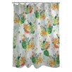 One Bella Casa Tropical Bird Shower Curtain