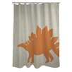 One Bella Casa Steogsaurus Stripe Shower Curtain
