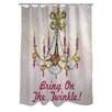 One Bella Casa Bring On The Twinkle Shower Curtain
