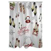 One Bella Casa Merry Glitzmas Shower Curtain