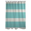One Bella Casa Helen Striped Shower Curtain