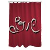 One Bella Casa Hand Painted love Shower Curtain