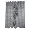 One Bella Casa Vintage Seahorse Shower Curtain