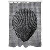 One Bella Casa Vintage Seashell Shower Curtain