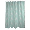 One Bella Casa Sabrina Brush Chevron Shower Curtain
