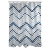 One Bella Casa Reika Zig Zag Shower Curtain