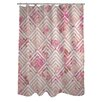 One Bella Casa Saeko Scale Floral Shower Curtain