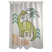 One Bella Casa Vegetarian Dino Shower Curtain