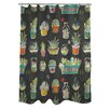 One Bella Casa Cacti Shower Curtain