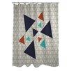 One Bella Casa Natasha Geometric Triangles Shower Curtain