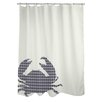 One Bella Casa Plaid Crab Shower Curtain